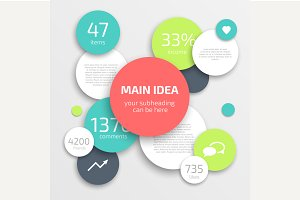 Circle modern business Infographics