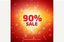 Bright red and Sale background