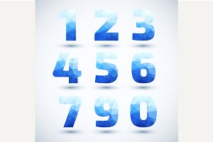 Blue Numbers set