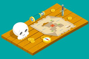 Isometric Pirate Adventure Table