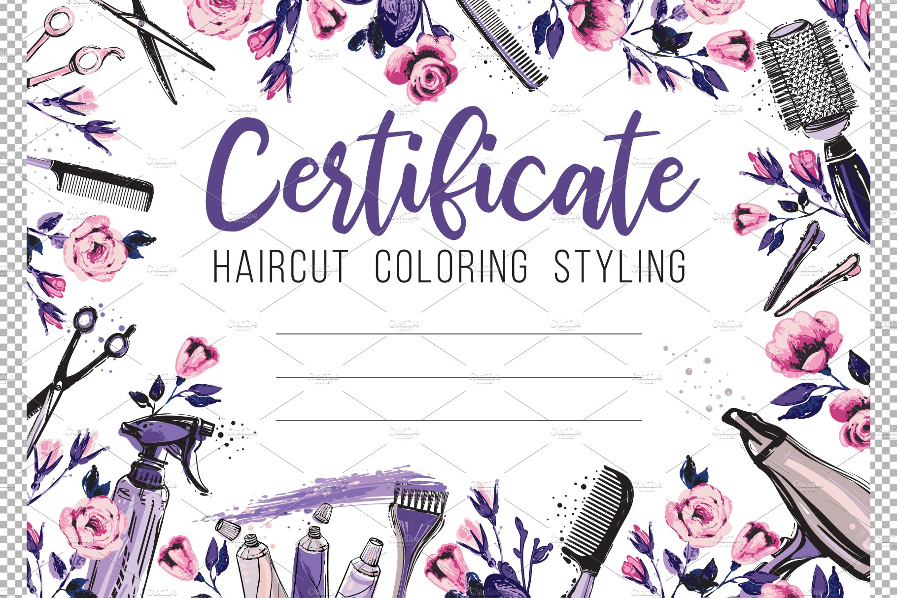 Salon Gift Certificate Template from images.creativemarket.com