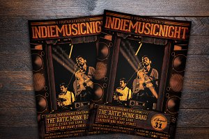 Indie Music Night Concert Flyer