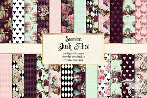Blush Alice in Wonderland Patterns
