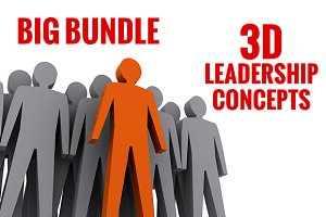 Big bundle of 3D leadership concepts