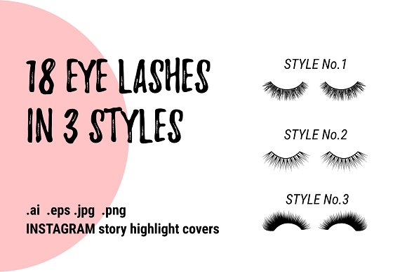 EYE LASHES icon logo clipart in Graphics - product preview 5
