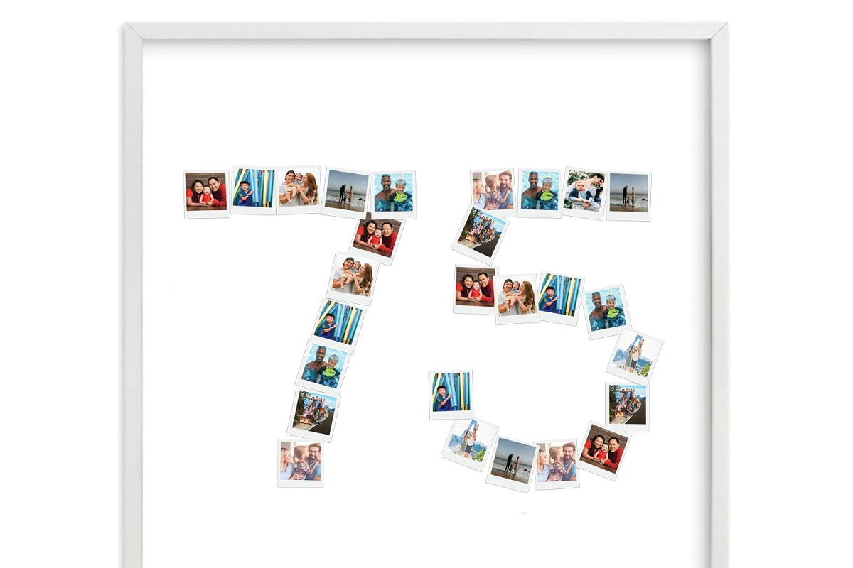 Number 60 Photo Collage Template