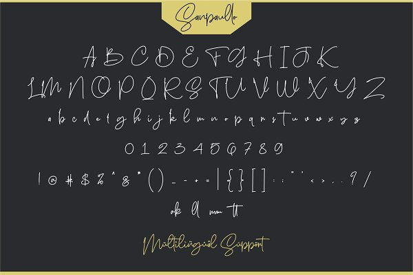 Best Sanpaullo - Signature Font Vector