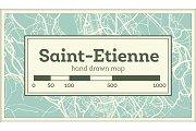 Saint-Etienne France City Map