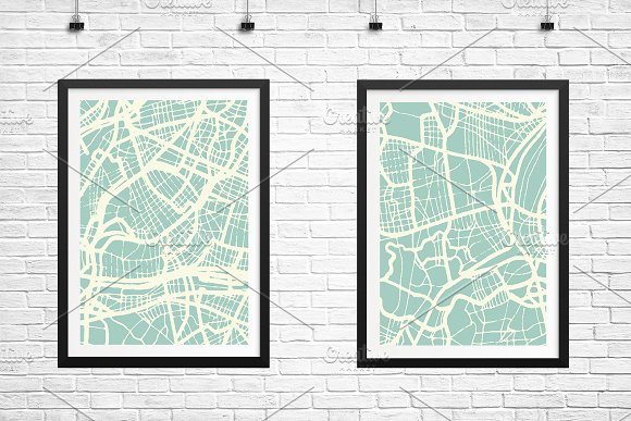 Saint-Etienne France City Map in Illustrations - product preview 4