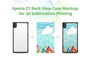 Xperia Z1 2d Case Design Mockup