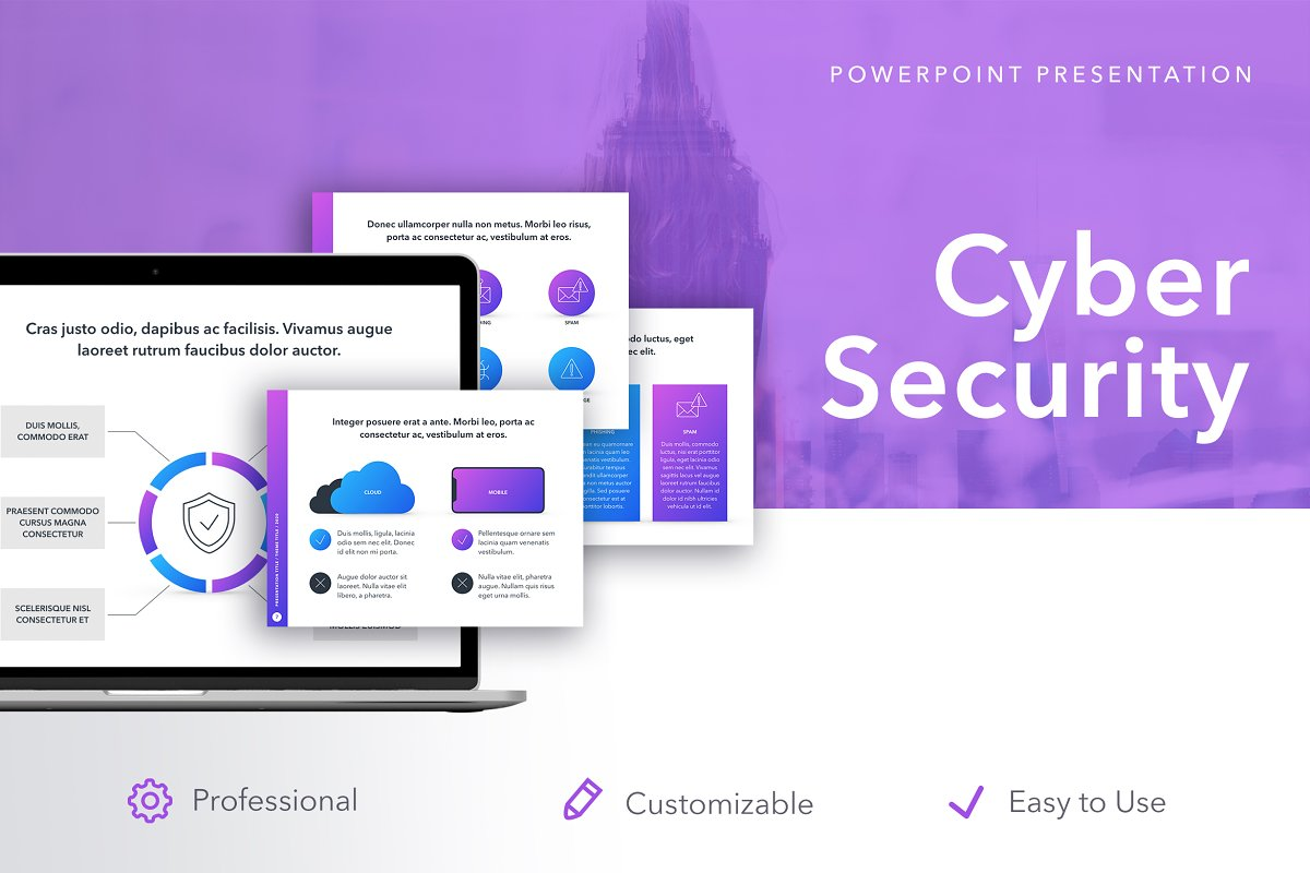 Cyber Security Powerpoint Template Powerpoint Templates