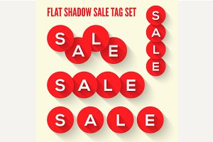 Modern flat sale tags set.