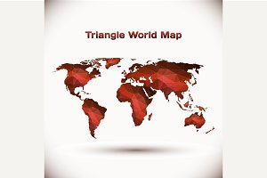 Triangle World Map Illustration