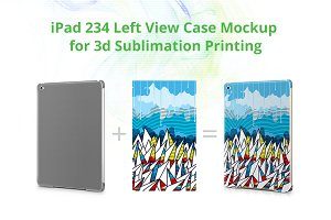 iPad 234 3dCase Design Mockup