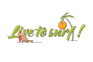Vector line surf illustrations.