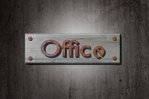 Office placard