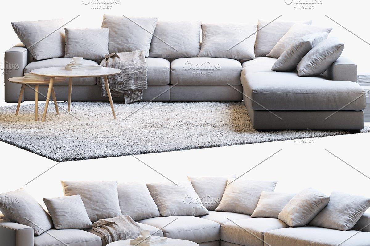 Cenova 2 corner sofa 3d model ~ Furniture Models ~ Creative ...