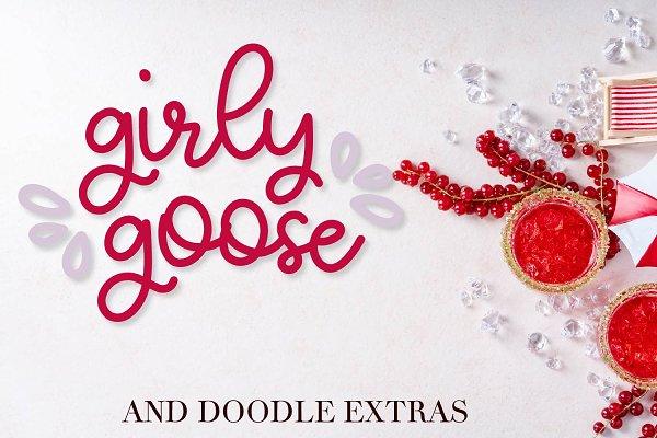 Girly Goose - a monoline script
