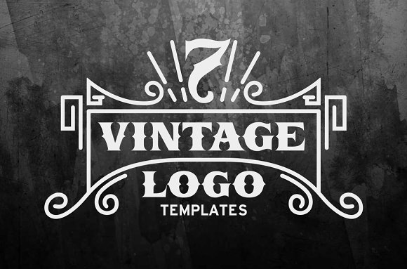 7 vintage logo templates logo templates creative market. Black Bedroom Furniture Sets. Home Design Ideas