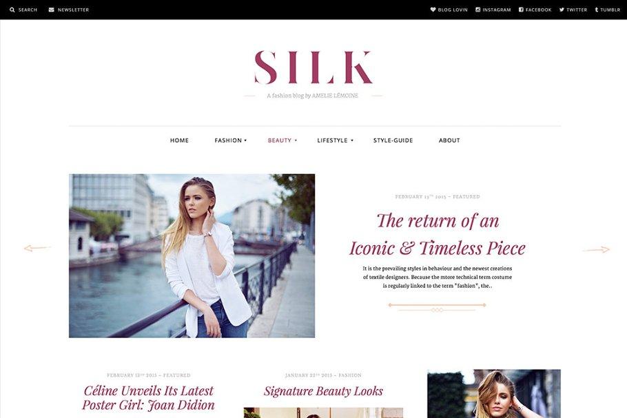 e460a69a78e Silk - A Fashion Magazine Theme ~ WordPress Magazine Themes ~ Creative  Market