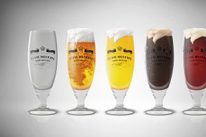 Glass Mockup - Beer Glass Mockup 6