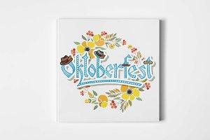 Oktoberfest Floral Logotype