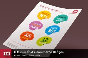 6 Minimalist eCommerce Badges
