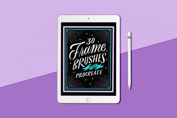 30 Frame Brushes for Procreate App