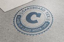 5 Close-Up Logo Mock-ups V.1