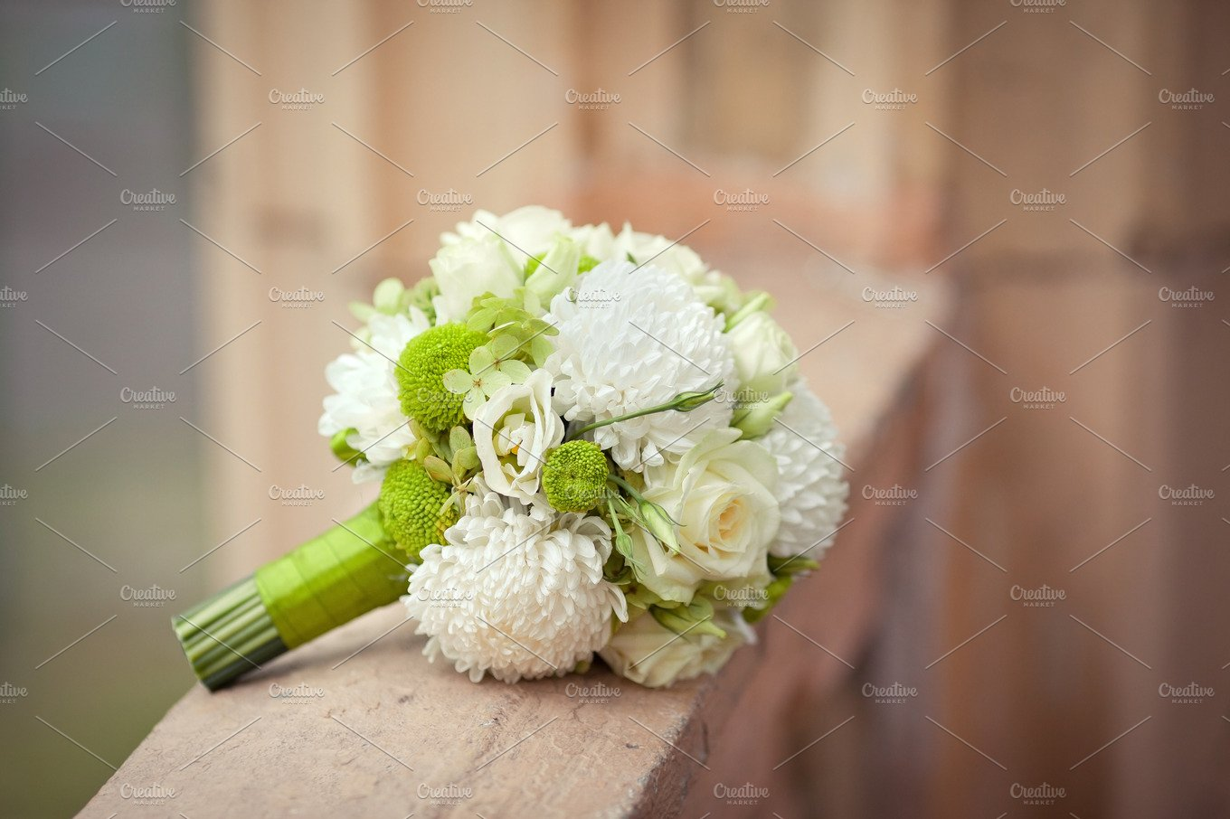 White And Green Wedding Bouquet Beauty Fashion Photos Creative