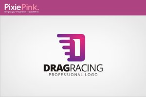 Drag Racing Logo Template