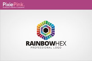 Rainbow Hex Logo Template