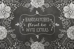 Hand Sketched Floral Kit + EXTRAS!
