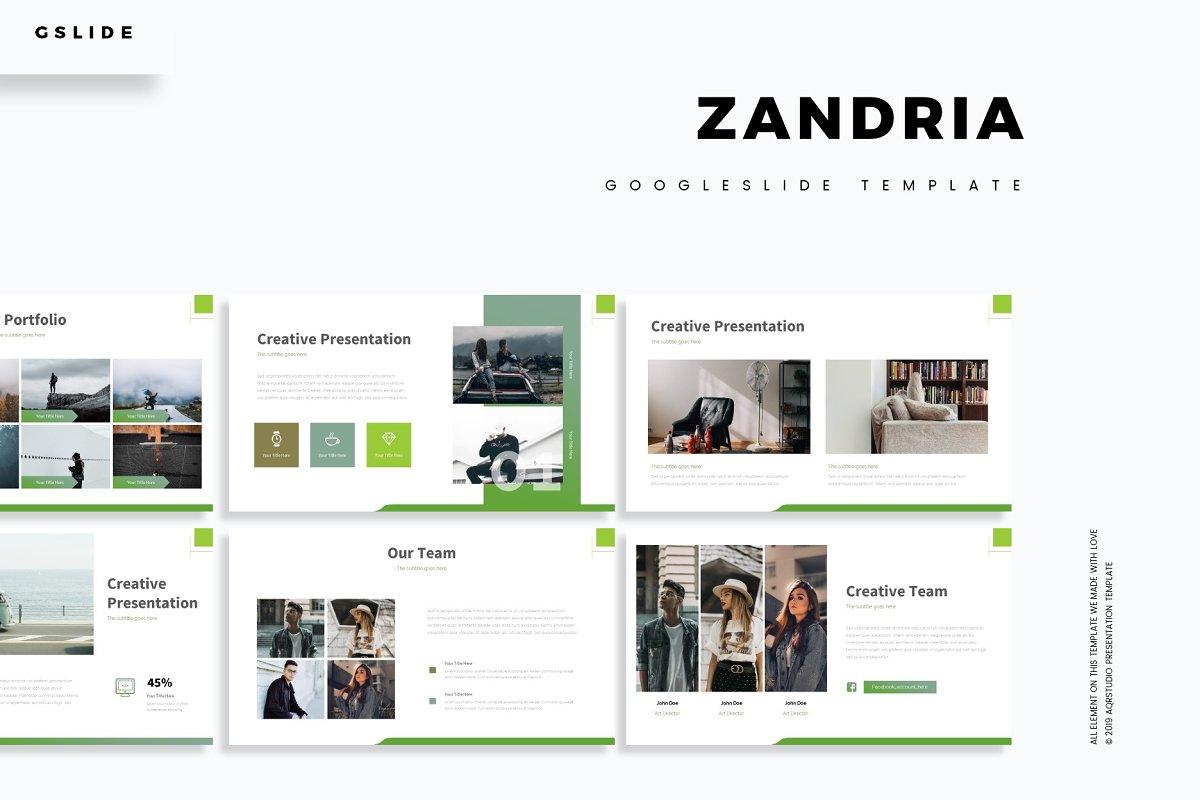 Zandria - Google Slide Template ~ Google Slides Templates ~ Creative