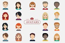 Set of avatars. Characters for web.