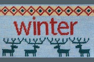 Needlepoint Winter Background
