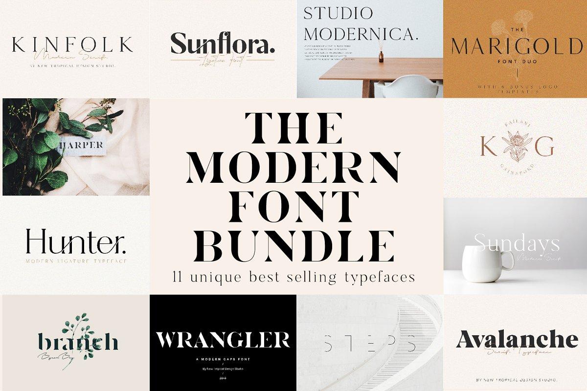 The Chic & Unique Modern Font Bundle