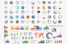 Set of Timeline Infographic diagrams