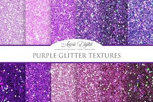 Purple Glitter Textures