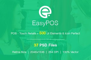EasyPOS Touch Retails UI Graphic