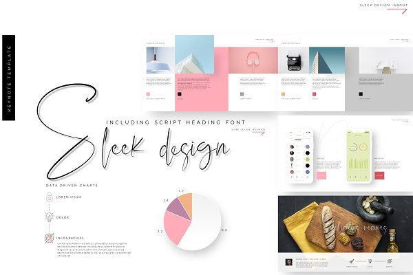 Sleek design Keynote Template