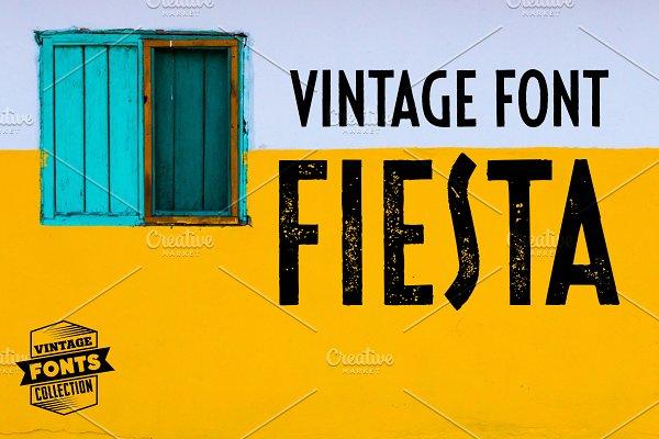 Fiesta - 2 vintage fonts