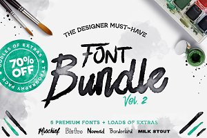 Font Bundle: Vol.2 - 70% OFF