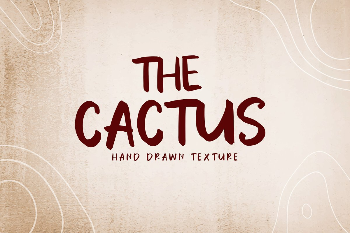 The CACTUS | Handlettering FOnt