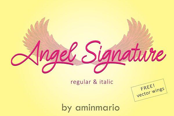 ANGEL SIGNATURE | free wings vector