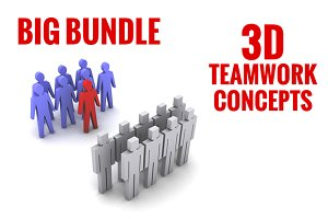 Big bundle of 3D Teamwork concepts
