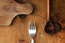 Vintage wood table 1