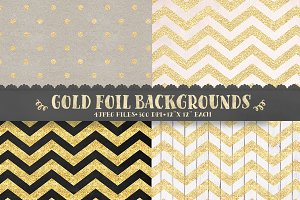 Gold foil & glitter digital paper