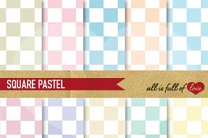 -20% Pastel Checkered Pattern Sheets