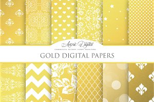 Gold Foil Digital Paper
